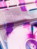 Technology Projected on a Computer Cd Tray