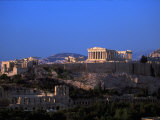 Parthenon from Filopapou at Dusk, Athens, Greece