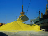 Unloading Sulfur from Ship, Darwin, Austr