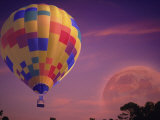 Hot Air Balloon and Moonrise