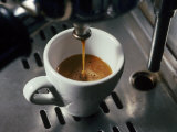 Machine Pouring Cup of Espresso