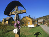Religious Shrine Near Homes, Poland