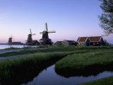 Windmills at Sunset, Zaanstad, North Holland