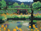 Fountain and Pond, Butchart Gardens, Canada