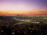 Sunrise Over Los Angeles Cityscape, CA