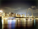 Stlouis Skyline and the Arch at Night