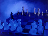 Blue Chess Set