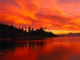 Sunset, Sierra Mountains, Lake Tahoe, CA Photographic Print