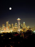 Full Moon, Seattle Skyline, WA