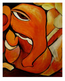 Lord Ganesh Elephant Abstract