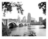 Minneapolis Skyline BW3
