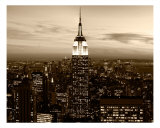 Empire State Building And Midtown At Night Photographic Print