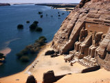 Ramses Temple and the Nile Shoreline at Abu Simbel
