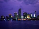Twilight View of the Miami Skyline