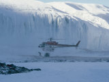 A Helicopter Delivers Supplies to Scientists Working in Antarctica
