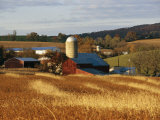 Picturesque Farm Photographed in the Fall