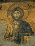 A Mosaic of Jesus at St. Sophia Hagia in Istanbul