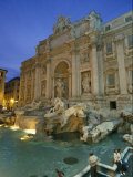 Buy View at Dusk of the Trevi Fountain in the Piazza Di Trevi at AllPosters.com