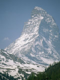 A View of the Majestic Matterhorn in the Swiss Alps