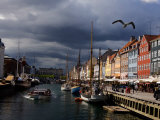Tourist Boat Cruises Nyhavn, New Harbor, Along the Scenic Canal in Copenhagen