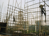 Rare Bamboo Scaffolding Used in Hong Kongs Housing Construction