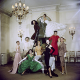 Models Posing in New Christian Dior Collection