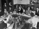 Patrons Enjoying the Ambiance at This Popular Speakeasy, a Haven For Drinkers During Prohibition
