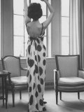 French Fashion Evening Dresses Sold at Ohrbach's Photographic Print