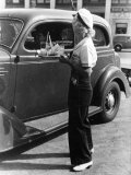 Young Girl Carhops, Waiting on Customers at the Hollywood Drive In