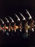 Multiple Exposure of a Man Eating and Drinking