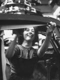 One of the 12% of Women Working on the Assembly Line of a Volkswagen Plant