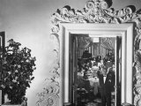 Mirrored Images of Customers Having Dinner at Camellia House