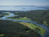 Aerial of Yellowstone River