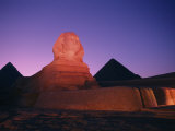 The Great Sphinx Illuminated at Night