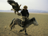 A Mongolian Eagle Hunter in Kazahkstan