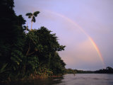 Rainbow over Amazon Rain Forest
