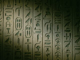 Egyptian Hieroglyphics Decorate the Walls of the Tomb of King Pepi I