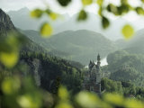 Neuschwanstein Castle of King Ludwig Along the Alp-See