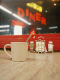 A Coffee Cup and a Diner Sign Spell Late Night Just off Route 95
