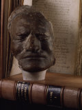 Death Mask of Sir Isaac Newton Beside Original Hand-Written Copy of His Masterpiece the Principia
