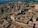 Rooftops and Buildings of City, Siena, Italy