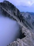 Trekkers Climbing Towards Mytikas on Mt. Olympus, Mytikas, Greece