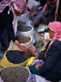 Vendor and Customer at Suq (Market) Stall, San'a, Yemen