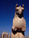 Eagle-Headed Griffin Statue Stands Guard Over Ruins, Persepolis (Takht-E Jamshid), Fars, Iran
