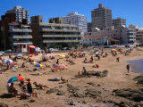 People on Beach, Punta Del Este, Uruguay