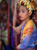 A Young Girl in Costume at the Usaba Sambah Celebration, Tenganan, Indonesia