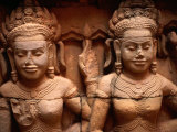 Carvings at Terrace of Leper King Angkor, Siem Reap, Cambodia
