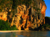 Sunset on Cliffs at Phra Nang Beach, Krabi, Krabi, Thailand