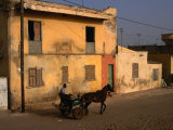 Horse and Cart Passing House, St. Louis, Senegal