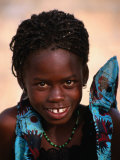 Portrait of Young Girl, Langue De Barbarie National Park, St. Louis, Senegal